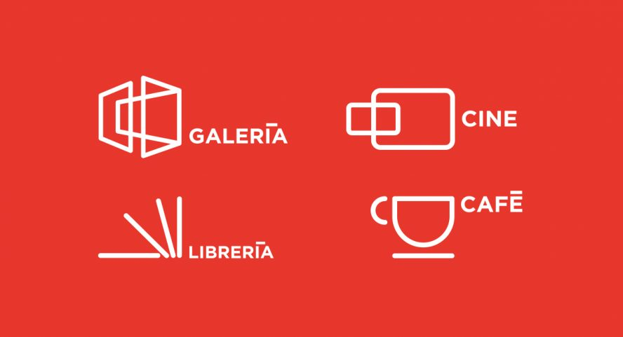 Art Gallery / Identity system for Café Bistro - Cinema Club - Book Store - Gallery